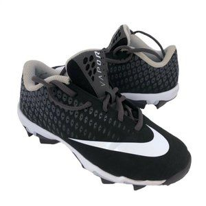 Nike (2.5Y) Youth Black Vapor Baseball Cleats